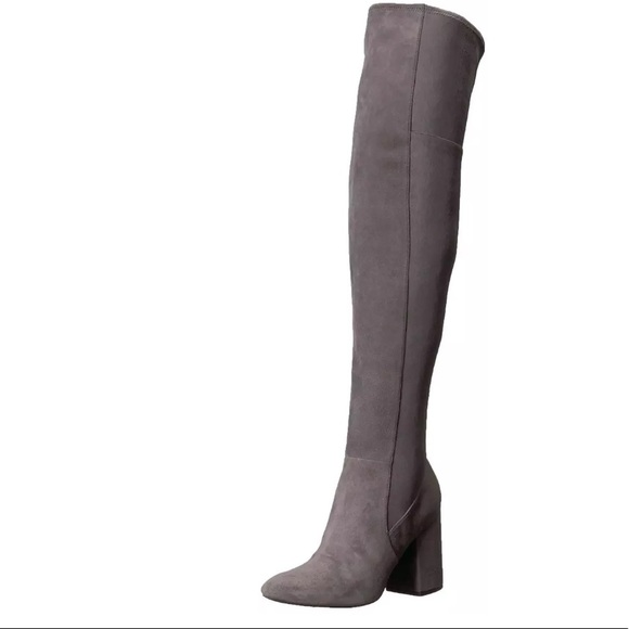 7047ab3840f Cole Haan Darla Over the Knee Grey Suede Boots